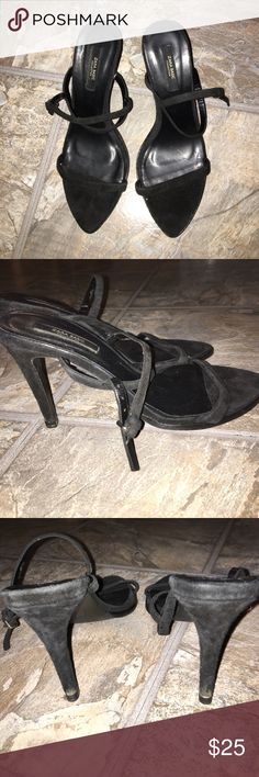 Zara black suede sandals, size 37. Zara Basic black suede minimalist sandals, size 37. Zara Shoes Sandals