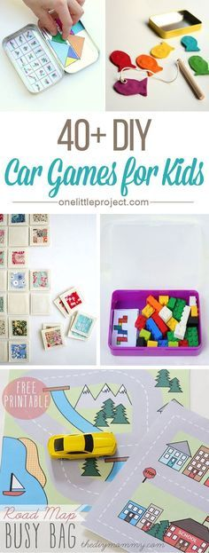40 DIY Car Games for Kids - This list has tons of ideas, tips and inspiration t. 40 DIY Car Games for Kids - This list has tons of ideas, tips and inspiration to keep your kids busy and quiet in the car or on a plane. Car Games For Kids, Diy For Kids, Crafts For Kids, Diy Crafts, Toddler Car Games, Summer Crafts, Kids Travel Activities, Kids Cars, Summer Diy