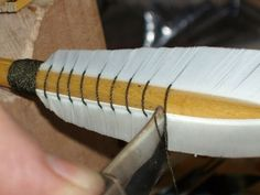 Archery - How to make a fletching jig. And other neat primitive survival instructions. #food