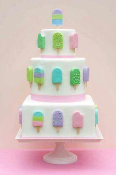 Too cute.  Make ice cream pops put of marshmallows or Rice Krispy treats.