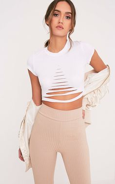 406da0f437c4 Ripped Sexy Crop Top - palaceofchic White Ripped Shorts
