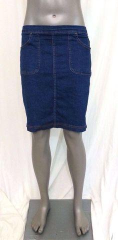 Croft & Barrow denim straight skirt knee length womens size Petite S stretch #CroftBarrow #StraightPencil