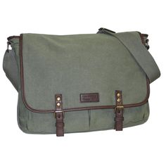 This messenger bag has a great business-casual look that would be perfect for the office, school, or travel. The padded strap is adjustable and can be worn over the shoulder or cross body.