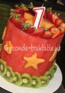 Gezonde traktatie: Watermeloen taart