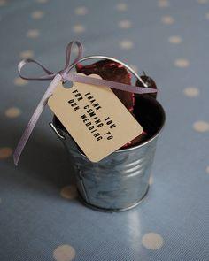 Set Of 10 Mini Silver Favour Buckets from notonthehighstreet.com