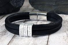 Leather men bracelet - Secret message bracelet - Gift for men - Anniversary gifts for men - Leather Anniversary for him - leather bracelet by Jaeedesign on Etsy