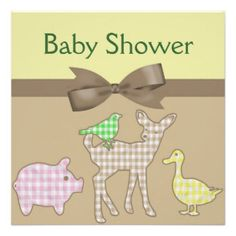 farm animal baby shower invitations | Farm Animal Baby Shower Invitations