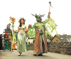 .The May Queen and the Green Man