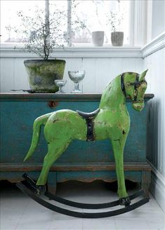 old rocking horse - must be modeled after the horses in oz.