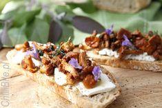 ChilliBite.pl - motywuje do gotowania!: Bruschetta z kurkami szałwiowymi Bruschetta, Feta, Camembert Cheese, Dairy