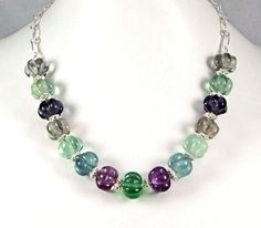 Fluorite & Sterling Silver Necklace  N70A by TheSilverBear on Etsy, $150.00