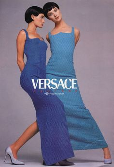 Shalom Harlow and Amber Valetta for Versace Couture