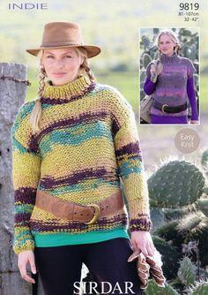 9594 Ladies Cardigan Sirdar Indie Pattern No