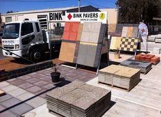 Bink Pavers, suppliers of concrete pavers for patios, driveways, walkways. Paver for sale. Concrete Pavers, Cement, Pavers For Sale, Masonry Blocks, Step Treads, Pvc Moulding, Landscape Designs, Brick, It Cast