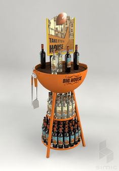 Retail Point of Purchase Design | POP Design | Alcohol & Soft Drinks POP | grill display