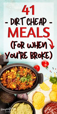 Do you need to eat on a budget this week? Check out these easy, dirt cheap meals. - Do you need to eat on a budget this week? Check out these easy, dirt cheap meals! Dirt Cheap Meals, Cheap Meals To Make, Cheap Family Meals, Inexpensive Meals, Cheap Food, Cheap Easy Dinners, Crockpot Cheap Meals, Cheap And Easy Recipes, Easy Crockpot Recipes
