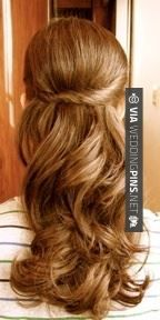 Cool! - Half Up Wedding Hair Pretty wedding hair | CHECK OUT MORE AMAZING PHOTOS OF GREAT Half Up Wedding Hair OVER AT WEDDINGPINS.NET | #halfupweddinghair #naturalhair #weddinghairstyles #weddinghair #hair #stylesforlonghair #hairstyles #hair #boda #weddings #weddinginvitations #vows #tradition #nontraditional #events #forweddings #iloveweddings #romance #beauty #planners #fashion #weddingphotos #weddingpictures