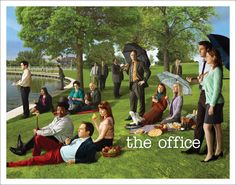 Amazon.com: The Office Georges Seurat Painting (Dunder Mifflin) Cast Group Workplace Comedy TV Television Show Poster Print, Unframed 11x14: Posters & Prints