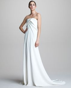 Donna Karan Strapless Bustier Gown - to die for....
