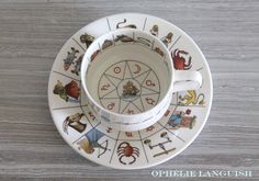 Jon Anton Vintage Mystical Tea Leaf Reading by OphelieLanguish Reading Tea Leaves, Palm Reading, Planetary Symbols, Mystical World, Fortune Telling, China Patterns, Cup And Saucer, Tea Party, Vintage Items