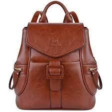 Leather Backpack for Women, Fanspack Womens Backpack Ladies Shoulder Bag Schoolbag Casual Daypack (Brown-Original Design) - Black-Zip Sling Backpack Purse, Leather Backpack Purse, Travel Backpack, Fashion Handbags, Fashion Bags, Fashion Backpack, Furla Metropolis, Inspiration Mode, Girl Backpacks