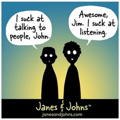 Janes and Johns  #comic #comics #comicstrip #comicart #cartoon #janesandjohns #graphics #bestbuddies #bestfriends #humor #humour #visualart #sarcasm #darkhumor