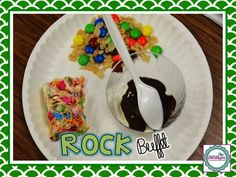 Using food to teach the different types of rocks -- love!