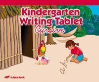 Abeka Kindergarten Writing Tablet Cursive