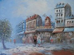 "Saatchi Art Artist krista may; Painting, ""Moulin Rouge"" #art"