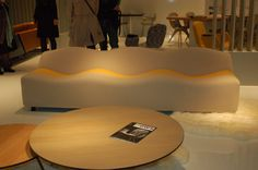 Artifort's wavy sofa - One of MPDClick's highlight products from I Saloni.  Subscribers can see comprehensive reports covering the key trends from I Saloni, Salone Satellite and Ventura Lambrate on MPDClick.com