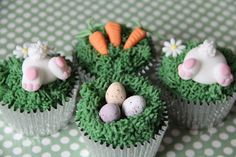 Easter Animal Cupcakes : Great British Chefs