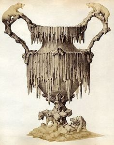 """design for an """"Arctic"""" pattern wine cooler in silver or electroplate from an 1860s/1870s trade catalogue issued by Maison J. Casses of Paris"""