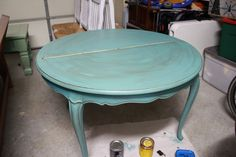The Sassy Pepper:  paint colors and vintage table