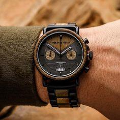 Chrono Verawood / Black Steel - Original Grain Watches