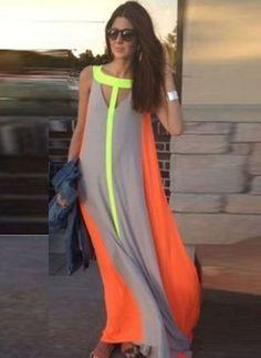 Chiffon Cotton Sleeveless Maxi Casual Hollow Out Dresses