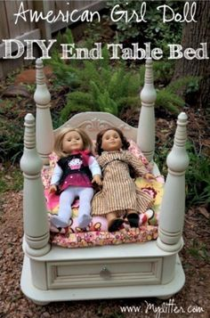 Four Post Bed | 39 American Girl Doll DIYs That Won't Break The Bank