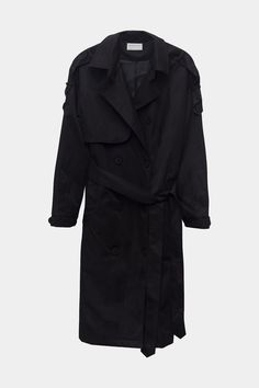 Modern Citizen  |  Nasiba Wrap Trench Coat (Black) $102