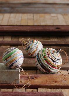 Bolas de papel reciclado // Paper balls