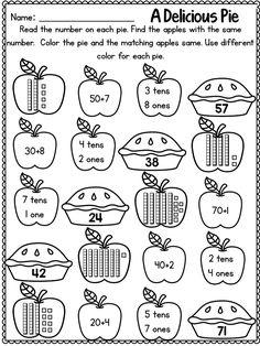 First Grade Math Worksheets Fall Activities – K5 Worksheets