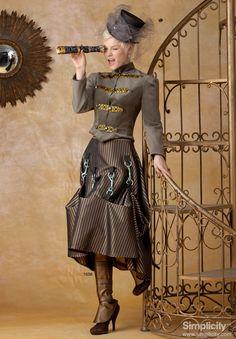 Misses' #Steampunk Costume #SimplicityPatterns