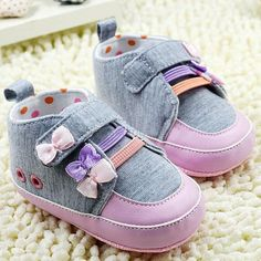 Kids Girl Baby First Walking Shoes Soft Bottom by ShoesBabyDar