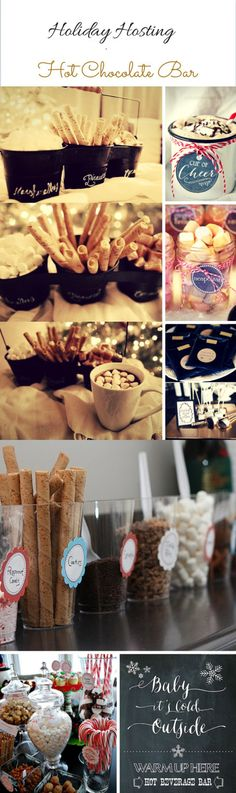 Hosting this year for the #holidays? Here is my pinterest round up of my favorite hot #chocolate bar ideas! These are some amazing ideas!