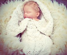 Organic Aran Cabled Baby Bunting by broodbaby on Etsy