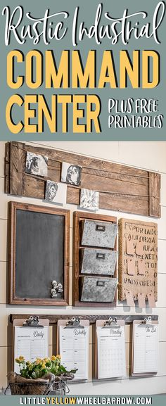 How to design a rustic farmhouse style command center for your small home office or entryway.