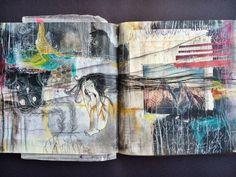 dont look I'm deciding - journal spread - by bun, artist: roxanne coble