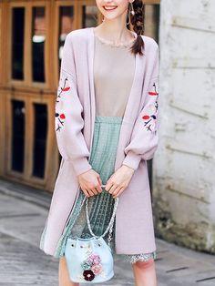 Fashion Clothes, Fashion Outfits, Girly, Knit Fashion, Nice Dresses, Kimono Top, Cute Outfits, Blazer, Sewing