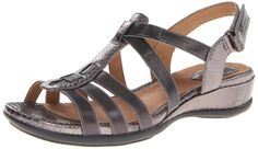Clarks Women's Tiffani Oribel Wedge Sandal * Discover this special product, click the image : Wedge sandals Gladiator Sandals, Wedge Sandals, Shoes Sandals, Shoes World, Fashion Sandals, Clarks, Gorgeous Women, Footwear, Slip On
