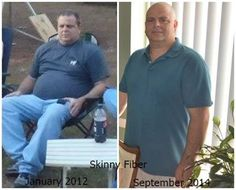 Wow what a Difference Kyle! Kyle says the picture on the right was a month after I had a mild stroke. We knew we had to do something to get me healthier, but I have a hard time with diets. I refuse to feel deprived. I want to eat what I want to eat, period. My wife found a post about Skinny Fiber on Facebook. She wanted me to try it and I said as long as I don't have to diet I will try anything.