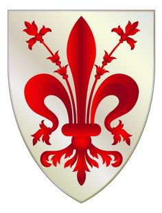 Florence Coat Of Arms Sticker -decal crest fleur de lis eeb1d2ad6