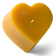 Beeswax Heart Candle, Pillar, Valentines Day